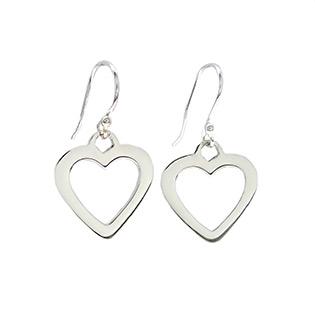 Silver Hearts Earrings