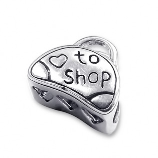 Sterling Silver LOVE TO SHOP Bead