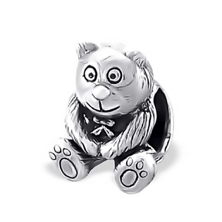 Sterling Silver Teddy Bear Bead