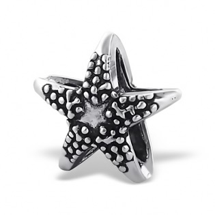 Sterling Silver Starfish Plain Bead