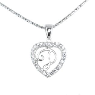 Silver Pendant Heart Shape D