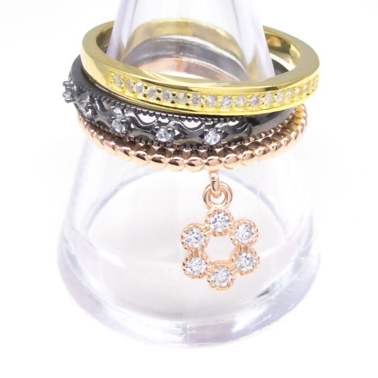 24Kt Gold vermeil Cubic Zirconia Ring