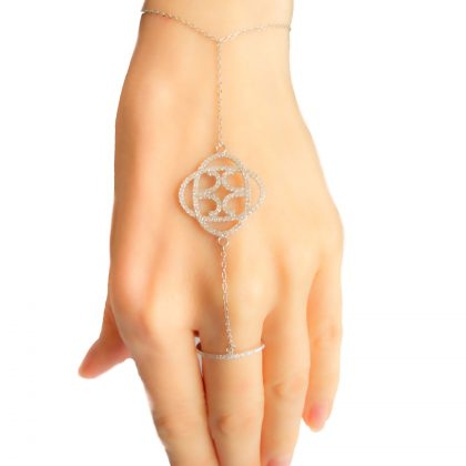 Cubic Zirconia Bracelet-Ring