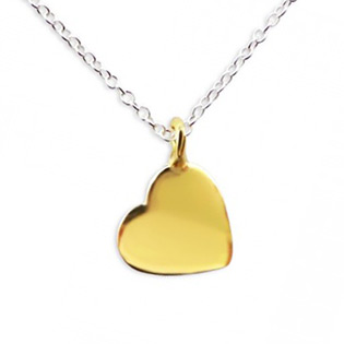 Gold Plated Silver Heart Necklace